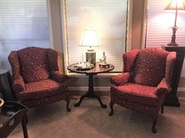 Beautiful Wingback Chairs and Tilt Top Table