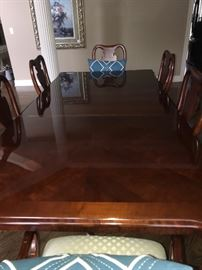 Thomasville Antique Cherry Dining Table with chairs