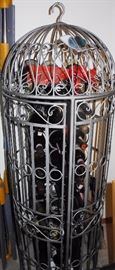 Very unique wine rack/cage type