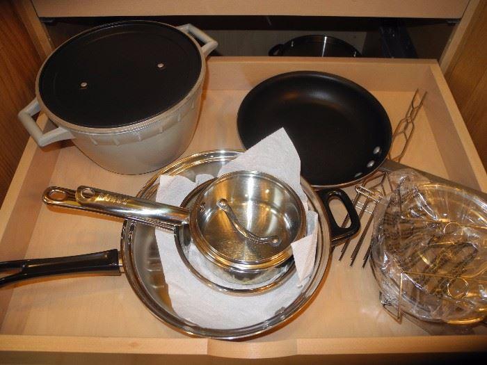 More pots and pans, Calphalon nonstick casserole (several sizes)
