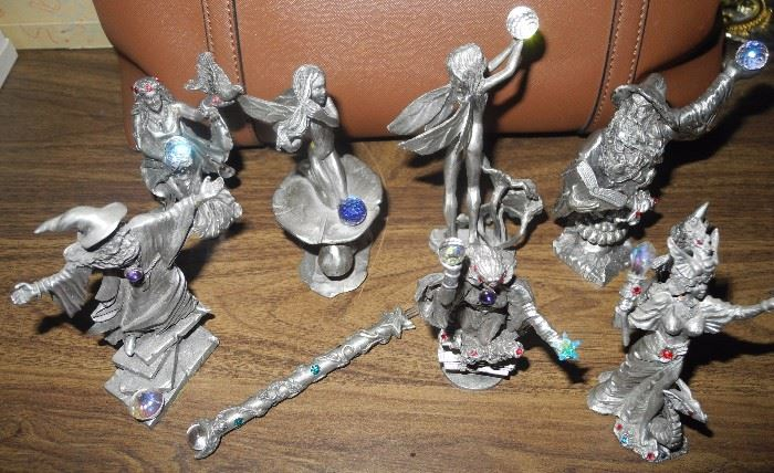 Wizard, Sorcerer Pewter figurines