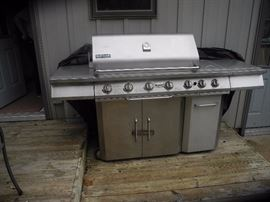 Amazing five burner Jenn Air stainless steel grill!