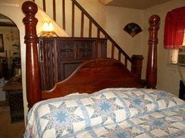 Canon ball queen bed