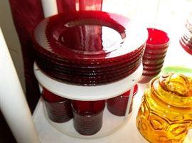 ruby dinner ware