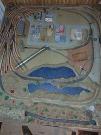 N Gauge Train Track Layout