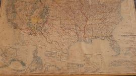 1912 United States Large Collectible Map