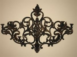 Retro ornate wall hanging for candles