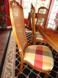 Dining room table & 2 arm chairs and 4 side chairs