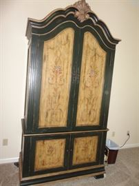 Armoire with painted flowers