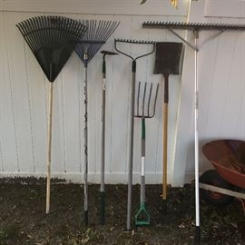 Large selection of garden and lawn tools