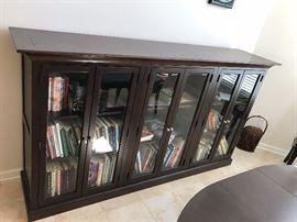Bassett Black Wood Display Cabinet
