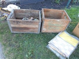 Vintage crates with advertizing