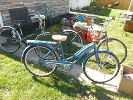 Vintage J C Higgins Girls Bicycle with Tank