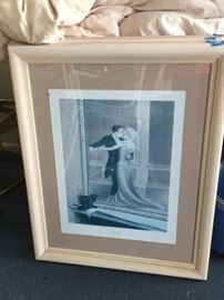 Singed Lynne May Wright print that is framed(34x28)