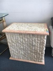 Hand Crafted Fossil Stone (made in the Phillippines) table base