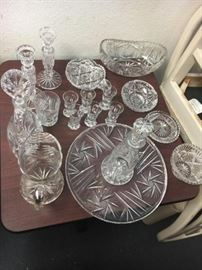 10+  Cut Glass ware with the Star of David