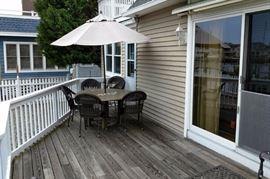 Stylish outdoor dining set