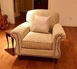 Allen White Arm Chair