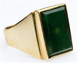 14k Gold and Green Quartz Ring