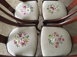 4 needlepoint seats