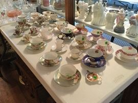 lots of cups and saucers