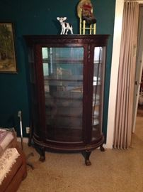 display cabinet curved glass