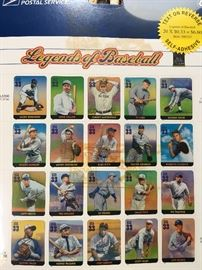 First day issue legends of baseball stamps