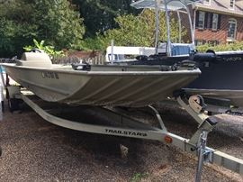 20 foot Tracker John boat with trailer