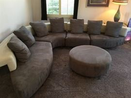 Grey modern sectional
