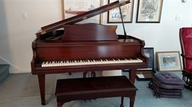 Very Nice (smaller than typical) Baby Grand Piano.