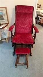 Antique Platform Rocker with foot rest