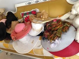 YES WE HAVE HATS! DOZENS OF HATS MANY CUSTOM MADE FROM VINTAGE MAKERS IN THE DETROIT AREA IN THE 40'S-60'S