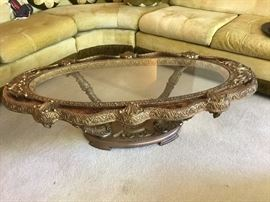 Detailed coffee table-- Gold color
