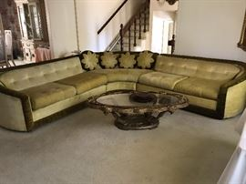 """Beautiful sectional sofa-- unique one of a kind """"Old Hollywood Style"""""""