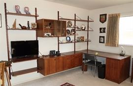 Mid-Century Modern Teak Office Unit -  The Pièce de Résistance of the sale!