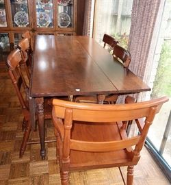 Harvest drop-leaf table
