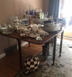 Dining Room Table and Housewares