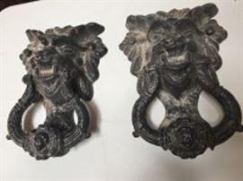 Cast-Iron Gargoyle Design Door Knockers