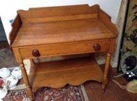 Antique Pine Washstand