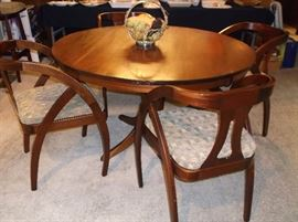 Mahogany table and chairs custom made by the owner