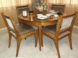 Oak table and chairs custom made by the owner