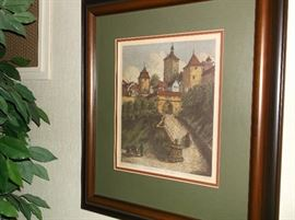 Original signed German etching  by Ernst  Glessendorfer