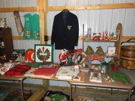 Christmas Décor, Girl Scout Vest,  Patches