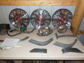 1957 Cadillac Hubcaps, parts
