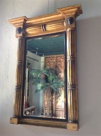19th .c . English gold gilt looking glass