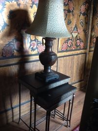 Nesting tables and lamps