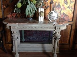 19th. c.  French marble /mirrored console