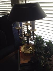 Brass lamp with room for 3 bulbs