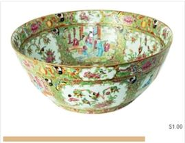 Item 152 Large Chinese Famille Rose Export Bowl