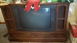 Working color console TV